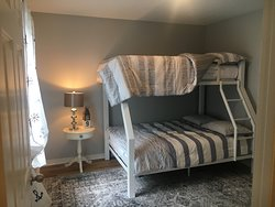 Great digs ! Love the bunk beds!!