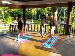 morning Yoga session in Hiru Aadya Ayurveda Retreat