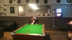 Pool table at the Crown Pub