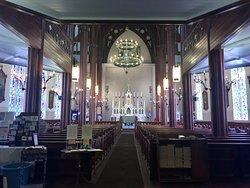 Inside the lovely old church