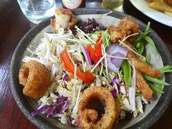 Thai style salad with calamari