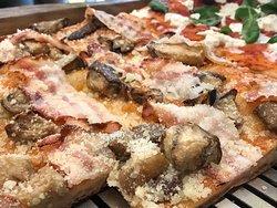 Melanzane, bacon, pecorino