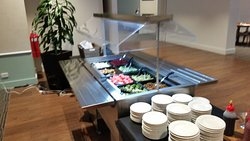 One very unpopular salad Bar.