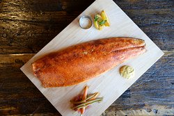 Full Side of house-smoked Wild Atlantic Salmon with a chipotle cinnamon rub (serves 6-8)