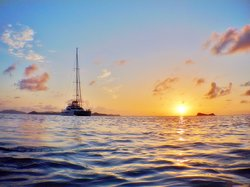 The sunsets in the British Virgin Islands never disappoint. See them from your luxury catamaran yacht charter.