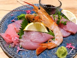 Assorted sashimi raw fish