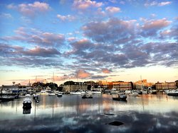 A short walk from the Woods Hole Inn, you will find this stunning overlook of the science community and waterfront marina.