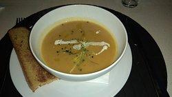 sopa del dia, de calabaza