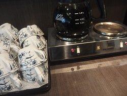 朝食注文で無料のコーヒー
