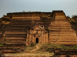The Mingun Pahtodawgyi is an incomplete monument stupa in Mingun, approximately 10 kilometers northwest of Mandalay in Sagaing Region in central Myanmar. The ruins are the remains of a massive construction project begun by King Bodawpaya in 1790 which was intentionally left unfinished.