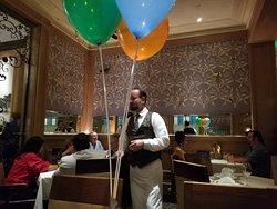 festive birthday balloons