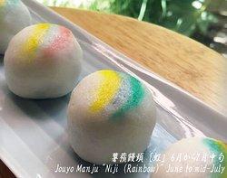 """薯蕷饅頭 [虹」 6月から7月中旬 Jouyo Manju """"Niji  (Rainbow)"""" June to mid-July"""