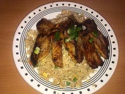 Grilled Pork Chop on Fried rice
