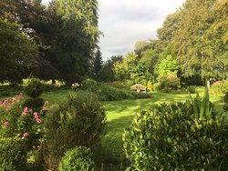 View from our room over the garden.  Beautiful. The lovely sunny weather obviously helps!