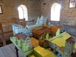 Maquette de l'abbaye avant demolition