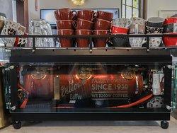 Beautiful new coffee machine courtesy of Vittoria!