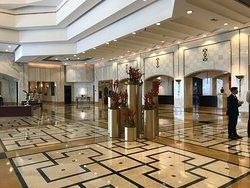 Marble clad reception area