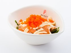 Flying Fish Egg Salad - Japanese tobiko & crab meat sitting on house salad with QB dressing