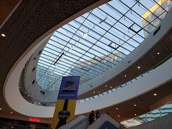 Mall at Wien Mitte, Vienna, Austria: eateries, airport train, U-Bahn, all in one location.