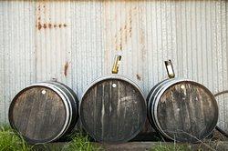 Wine barrels repurposed for vinegar