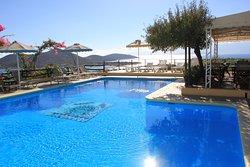The pool and pool bar