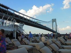 View of the Bridge from our Cruise ship