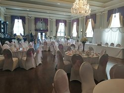 Downstairs wedding set up in our ballroom