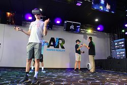 Virtual Reality is great because it's active fun!