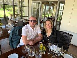 Fernanda y Marcio en Terrazas de los Andes.. Almuerzo nota 1000