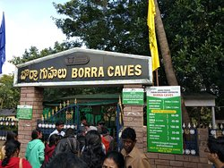 Borra Caves - Entrance Gate - Displaying different Entry Fees for tourist & cameras