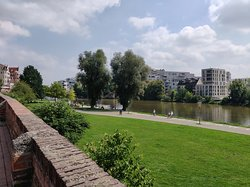 River and new Ulm on other side