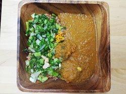 フランスカレーと野菜炒め French curry with stir-fried vegetables