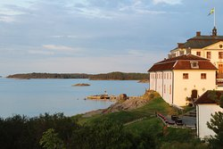 View towards the Manor House and the Baltic sea a lovely evening @ Mauritzberg
