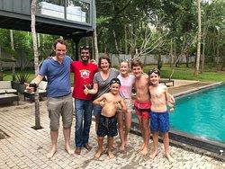Lahiru et notre famille