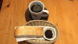 たっぷりブレンドコーヒー  と 名古屋名物おぐらあん (2019/10/07)
