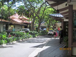 Shopping area at the resort.