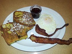 French toast combo with bacon
