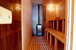 Плавучая баня, внутри