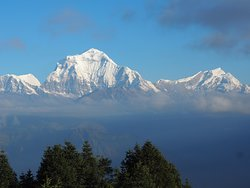 The view from Poon Hill on a beautiful clear morning.