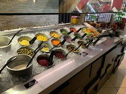 The famous soup & salad bar from Steak House! Enjoy it free with any main dish purchased every Sunday all day long. Available for Alfa rewards users. #Steakhouse #offers #Alfa