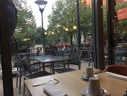 View from breakfastroom/restaurant.