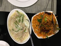 Ema Datsi with Singaporean Garlic noodles