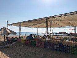 Kinderbereich am Strand