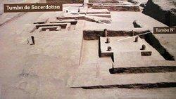 Foto de la ubicación de la tumba de la sacerdotisa en la huaca