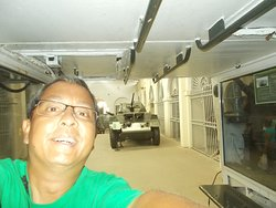 """Inside an armored carrier (the second of the two vehicles """"for entry"""" after going up the tank nearby)"""