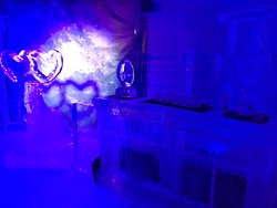 Ice bar and sculpture