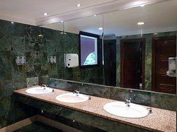 Clean Men Bathroom