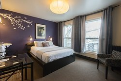 Newly renovated European Style Boutique rooms on 3rd floor. Most rooms have view access of the downtown!