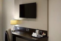 Premier Inn bedroom with desk