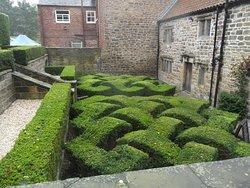 Knot garden near entrance